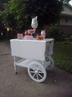 Tea cart rental for Candy Bar Station for your Wedding or Event