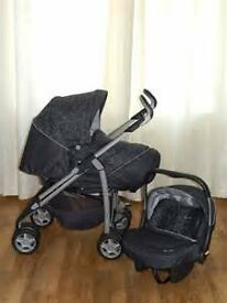 Silver Cross Pushchair 3D – 3 in 1 Travel System Black colour