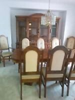 Large kitchen table and 8 chairs