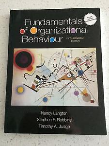 Fundamentals of Organizational Behaviour 5th Canadian Edition