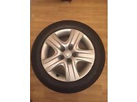 """2014 VAUXHALL INSIGNIA 17"""" STEEL RIMS PART NUMBER 2170103 WITH MINT TYRES SET OF 4"""