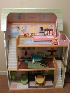 Large Barbie House with Furniture London Ontario image 1