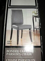 Home Studio Grey Leather Parsons Chair (brand new) $25