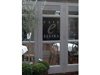 Cook for Cafe Elvira, Borde Hill
