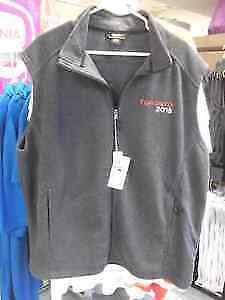 NEW GREY FLEECE FULL-ZIP VESTS BY NORTH END MEN'S & LADIES