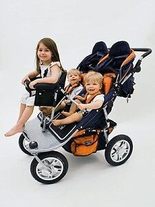 Valco baby double stroller with triple Joey seat option