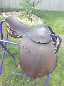 """17"""" jumping leather saddle by Ainsley"""