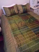 Handmade Balinese Queen Duvet Cover and Pillow Shams Watch|Share