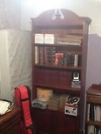 Large solid Cherrywood executive bookcase
