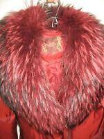 WOMENS FUR Collar WINTER LONG COAT/goose feather