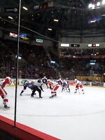 Windsor Spitfires Vs. London Knights - Front Row on the Glass