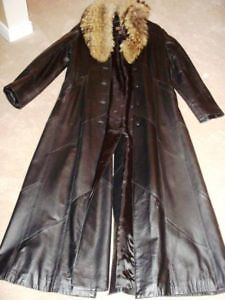 BACK IN FASHION - Womens Full Length Leather Coat
