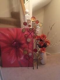 Next Canvas, Next Wall Art Next Vase And Artificial Flowers