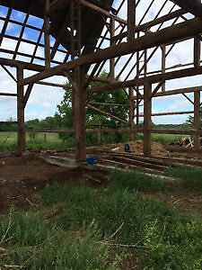 90+ year old barn timbers and beams for sale - huge quantity