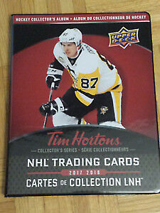 Tim Hortons hockey cards 2017-18 for sale  TE-1--------$40- Sidn