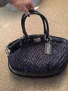 Authentic Navy coach bag and Louis Vuitton address book
