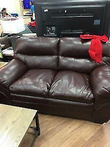 Ashley Mahogany Tassler Loveseat**new price**