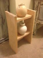 Rustic Solid wood decorative display end table