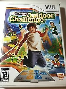 Wii Outdoor Challenge Game and Active Mat