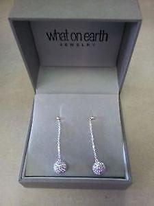 What on earth earnings: shiny sparkley lilac colour