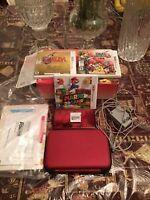 3DS ROUGE + 4 JEUX (SUPER SMASH, ZELDA) + ACCESSOIRES + CHARGEUR