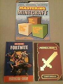 Minecraft & Fortnite Bundle. Minecraft Combat Handbook. Mastering Minecraft.