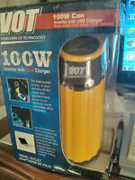 VOT 100W CAN inverter w/USB Charger