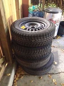 """17"""" Rims and winter snowflake tires"""
