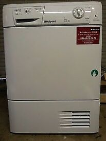 66 Hotpoint TCM580 8kg White Condenser Tumble Dryer 1 YEAR GUARANTEE FREE DELIVERY