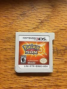 Pokemon Sun 3ds no case