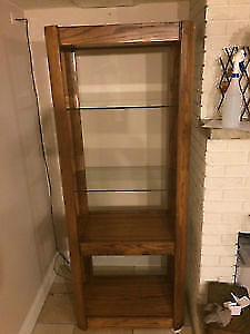 Solid Wood Oak Bookshelf Bookcase Display Rack