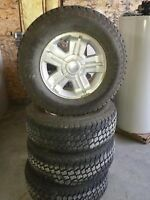 """SET OF 18"""" WHEELS & TIRES FOR CHEV AND GMC 1/2 TONS"""
