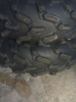 Several pairs of ATV tires