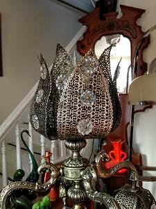 Magnifique Grande Lampe de Table Antique Tulipe Table en Marbre West Island Greater Montréal image 3