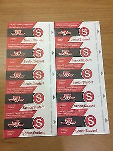 STUDENT/SENIOR TTC TICKETS FOR SALE! NEED GONE