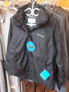 NEW BLACK WOMEN'S COLUMBIA JACKET SIZES S-XL - FLATTERING CUT