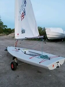 Laser Sailboat Full Rig very new, used 10 times
