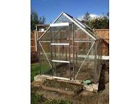 Glass and Aluminium Greenhouse 8x6