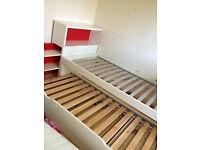 Kids Twin Bed with storage IKEA