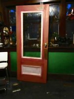 "antique 104yr old solid wood & glass ""Coventry"" style Door"