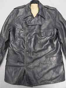 POLICE FORCE BLACK LEATHER JACKET