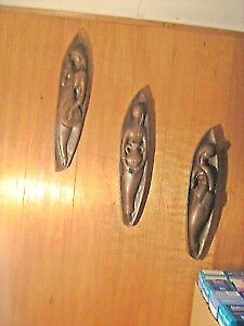 1950s 3 Ceramic Wall Plaques of 3 GRACES--$25 all 3