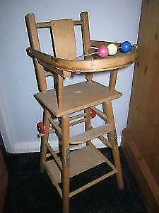 Vintage Wooden High Chair 82b0fe953