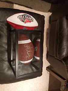 Damon Allen CFL Hall of Famer autographed ball and display case