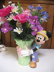Mickey Mouse Vase Disney 2000 Millennium Collector's