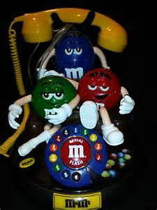 M&M`S  3 CHARACTER TELEPHONE,  NEW IN BOX