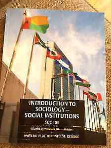 Introduction to Sociology, Social Institutions SOC 103