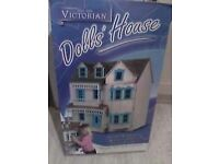dolls house Victorian style,plus 4 boxes of furniture