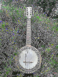 Antique 8 String Banjolin with original head and strings