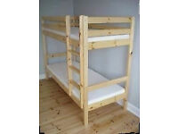 NEW solid pine bunk beds boxed. Free delivery in PLYMOUTH